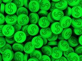 pic of ecstacy  - 3d rendered illustration of lots of green pills - JPG
