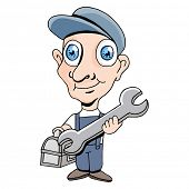An image of a repairman.