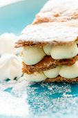millefeuille with vanilla cream