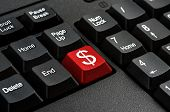 Keyboard - Red key Dollar sign business Concepts And Ideas