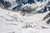 Mer De Glace (sea Of Ice) Is A Glacier Located On The Mont Blanc Massif, In The Alps; France.