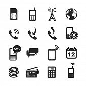 Mobile account management icons. Simplus series. Raster illustration