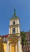 Belfry Of St. Alexander Nevsky Church (1825) In Riga, Latvia