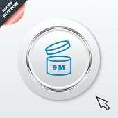After opening use 9 months sign icon.