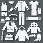 Menswear icons set