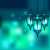 Ramadan lantern shiny background