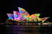 Iconic Sydney Opera House In Bright Colours