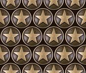 foto of iron star  - Bronze star seamless pattern on striped background - JPG