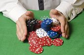Hands Betting Casino Chips