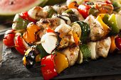 pic of kababs  - Homemade Chicken Shish Kabobs with Peppers and Onions - JPG