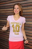 LOS ANGELES - JUN 18:  Maitland Ward at the Private LA Football League Summer Kickoff Suite featurin