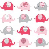 Baby Pink Elephant pattern