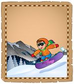 Parchment with winter sport theme 3 - eps10 vector illustration.