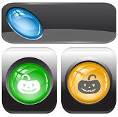 Pumpkin. Raster internet buttons.