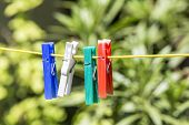 Clothes Line With Pegs
