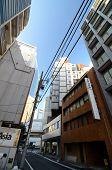 Shimbashi, Japan - : The Nakagin Capsule Tower In Tokyo