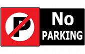 No Parking Sign Symbol Area