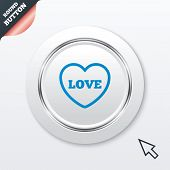Heart sign icon. Love symbol.