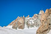 View Of The Rock Of Aiguille Du Midi, Mont-blanc, France, By Beautiful Weather