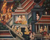 picture of mural  - BANGKOK  - JPG