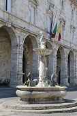 Ascoli Piceno, Italy - June 02, 2014: Arringo Square Is The Oldest Monumental Square