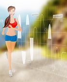 Woman running technology