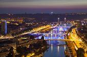 Evening View On Seine River In Rouen