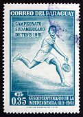 Postage Stamp Paraguay 1962 Tennis Player