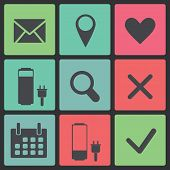 Set Of Icons Web Design Elements