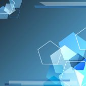 Blue polygonal Background