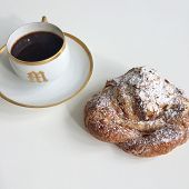 Amond Croissant And Black Coffee