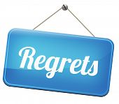 picture of apologize  - regret or no regrets saying sorry and offer apologize being ashamed for bad decisions  - JPG