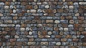 stone wall, granite rock fences for background and texture