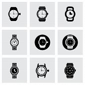 Vector wristwatch icon set