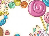 Frame Illustration Featuring Different Types of Candies