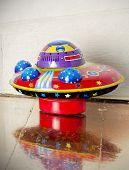 Ufo toy on floor