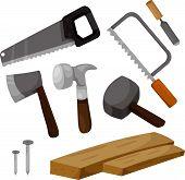 Illustrator of carpenter tools