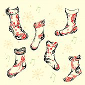 Totto Style Holy Christmas Socks