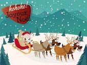French Christmas greetings Joyeux Noel horizontal background