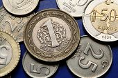 Coins of Turkey. Turkish one lira coins,