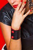 Red Black Bracelet On Wrist