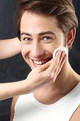 Men's grooming, skin cleansing facial