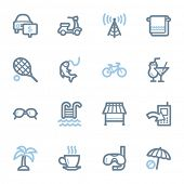 Vacation web icons set