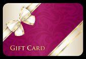 Scarlet Gift Card With Cream Diagonal Ribbon