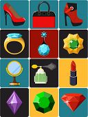 Collection of Ladies Shopping Icons