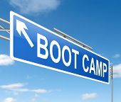 picture of punishment  - Illustration depicting a sign with a boot camp concept - JPG