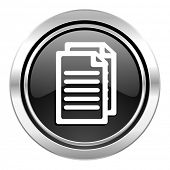 document icon, black chrome button, pages sign