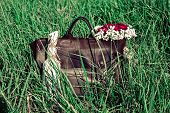 Bag And Flowers