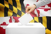picture of maryland  - Voting concept  - JPG