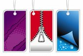 picture of swinger  - Illustration of modern retail tags isolated on white - JPG